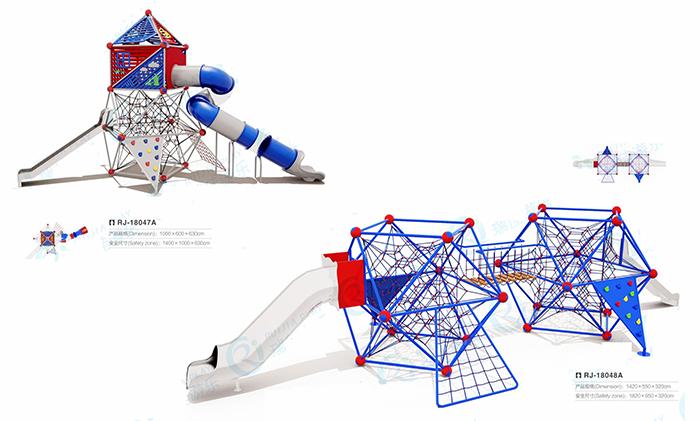 儿童游乐设施4爬网系列
